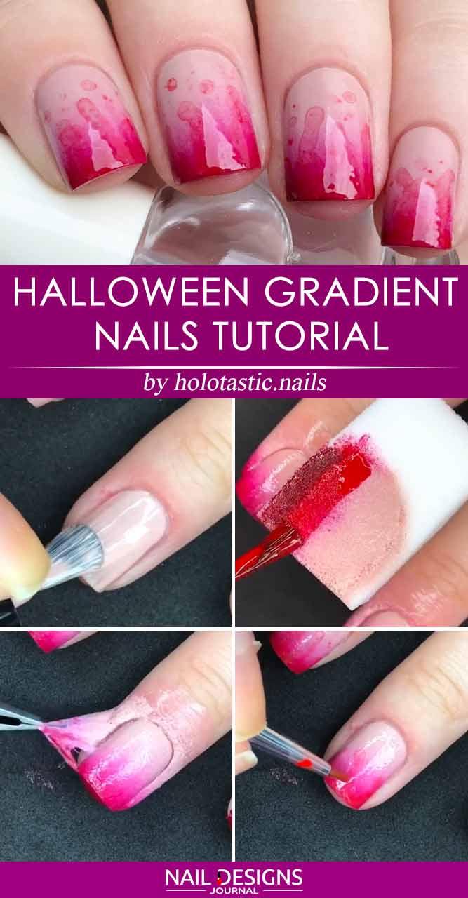 Halloween Gradient Nails Tutorial