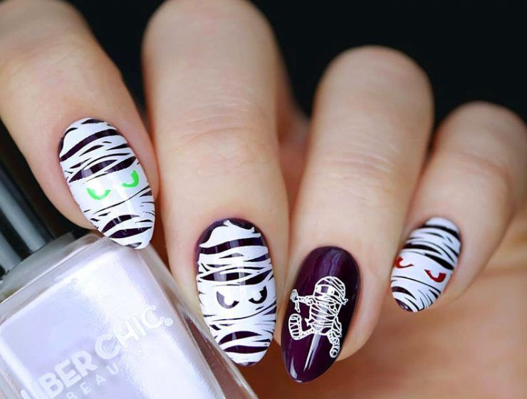 Creative but Easy Halloween Nails Designs You Can Copy