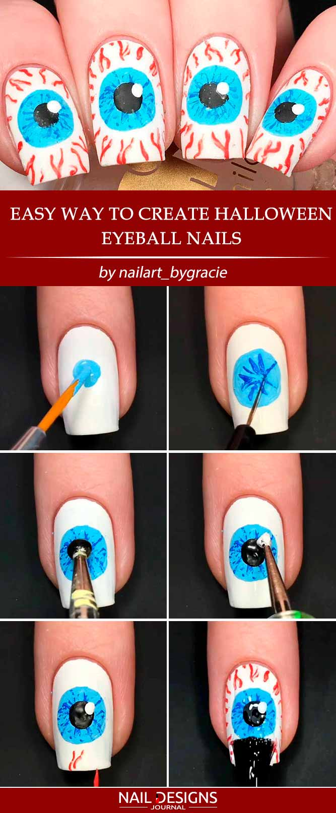 Scary Eyeball Nails To Try Out