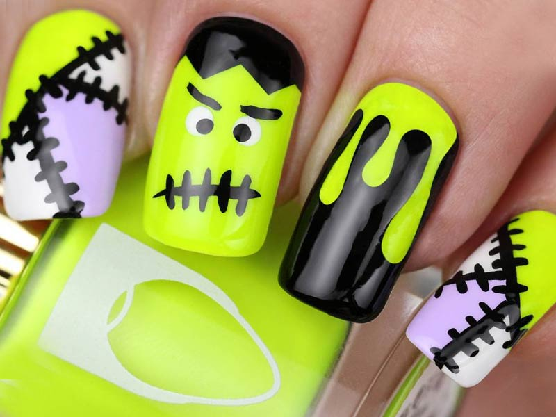 10 easy halloween nails tutorials naildesignsjournal prinsesfo Gallery