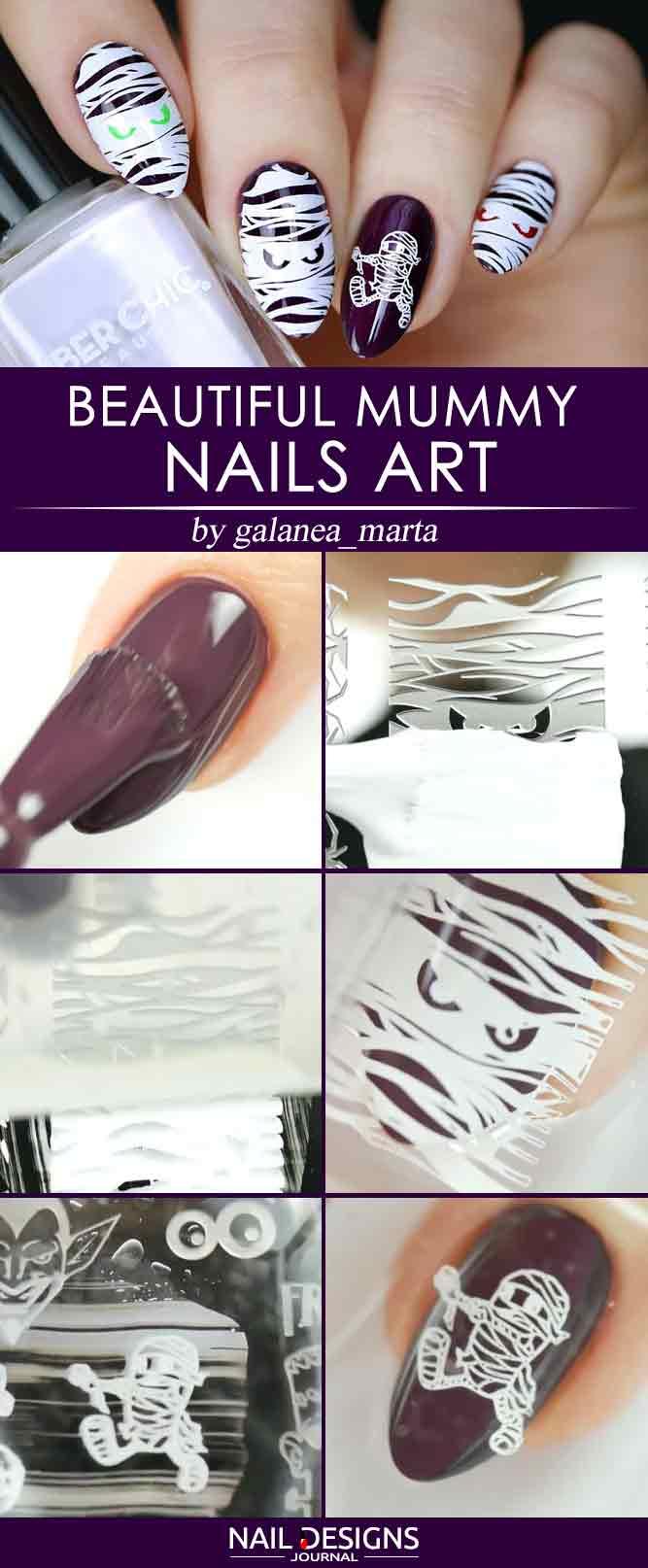 Beautiful Mummy Nails Art