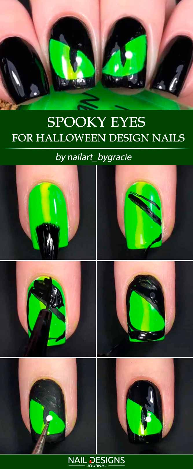 Easy Halloween Nails Tutorials
