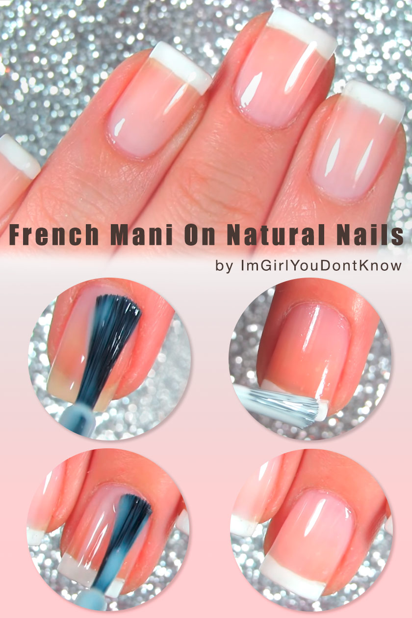 How To Make A French Manicure On Natural Nails? #naturalnails #easynails