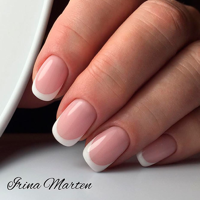 How To Make A French Manicure On Natural Nails #frenchnails #squovalnails