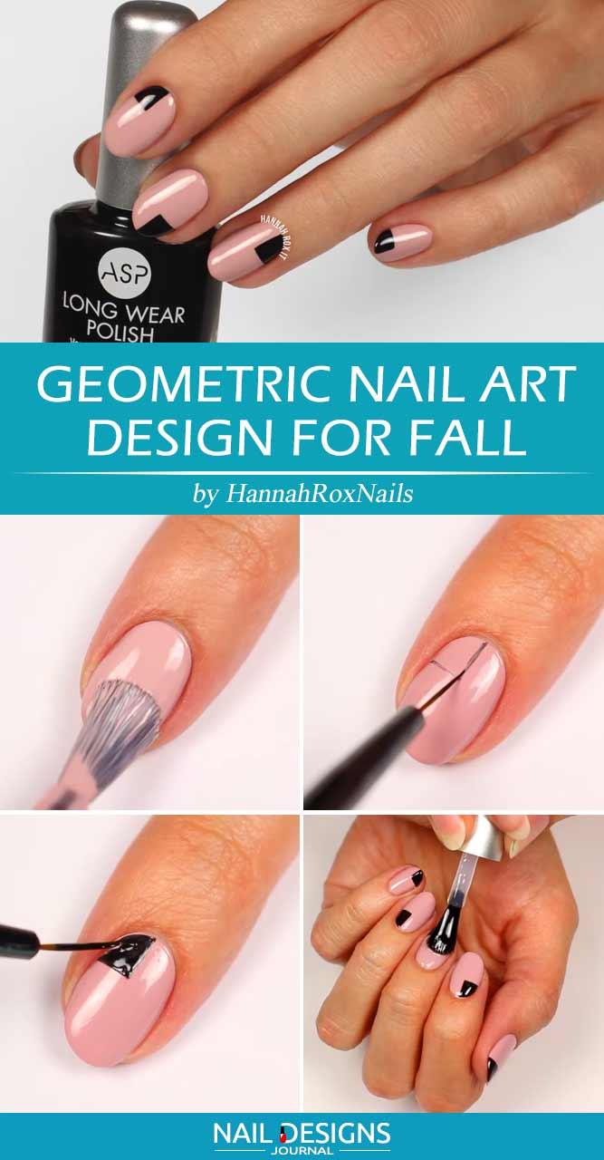 Geometric Nail Art Design For Fall