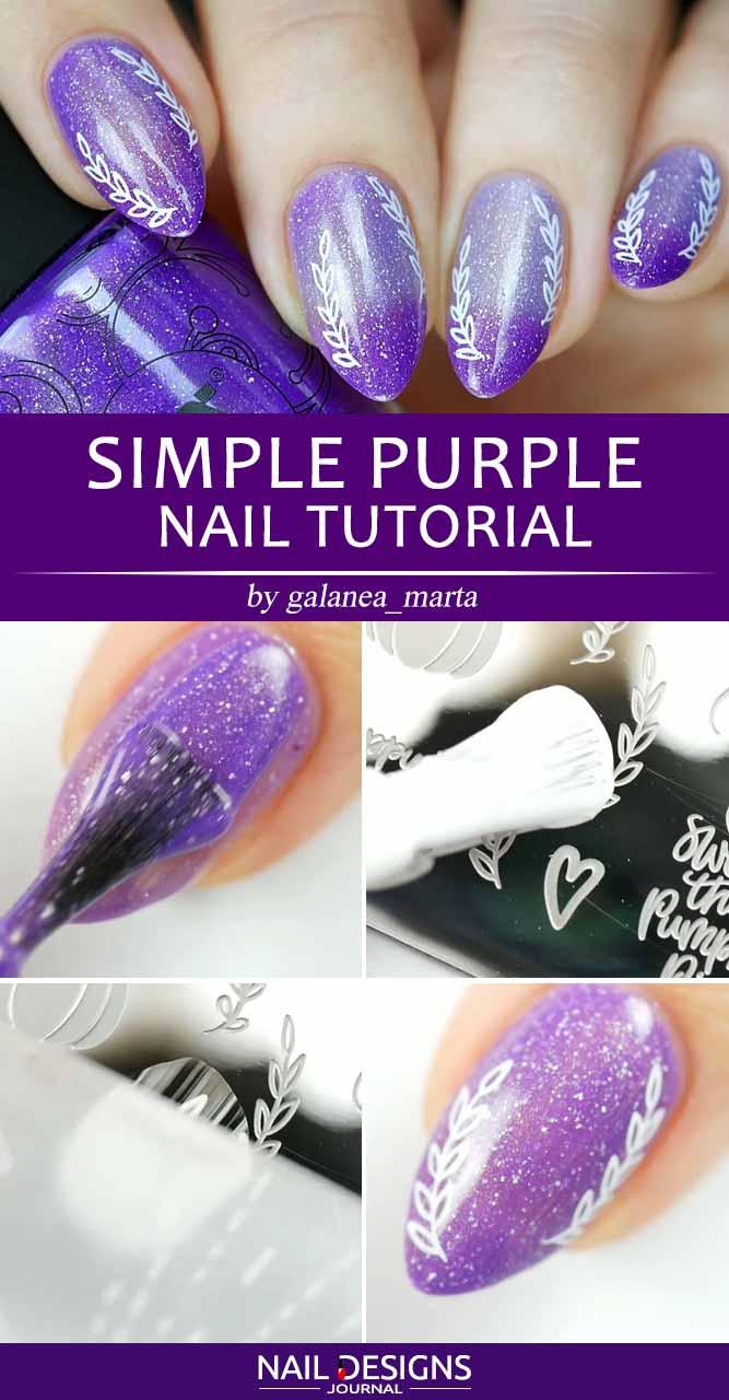 Simple Purple Nail Tutorial