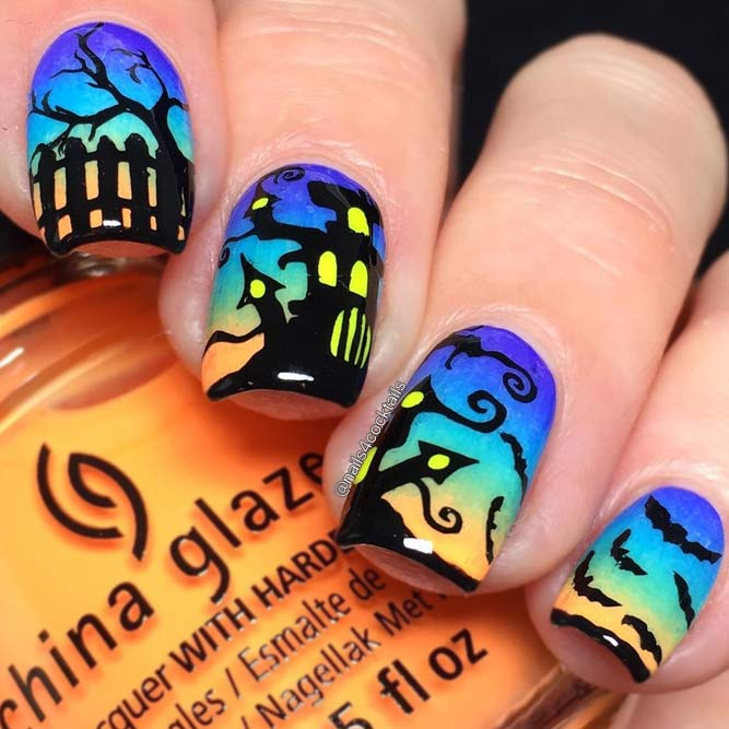 Halloween Nail Designs Mystic House picture 2