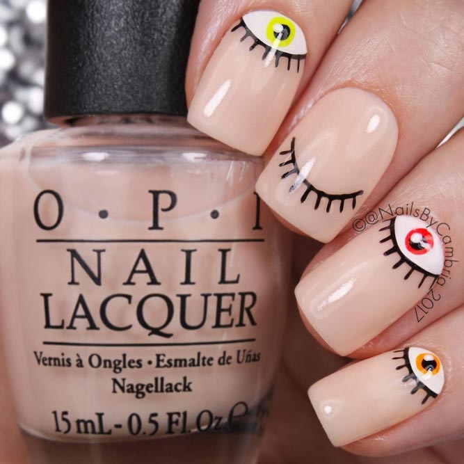 Simple Eye Design for Your Halloween Nails picture 1
