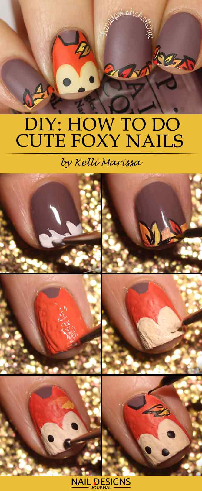 DIY How to Do Cute Foxy Nails