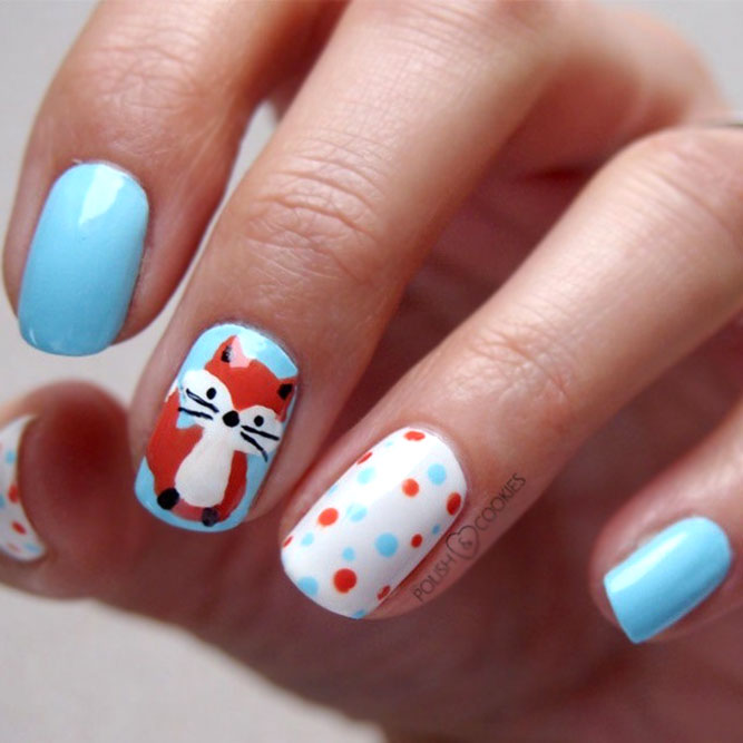 Cute Nail Design In Cold Shades