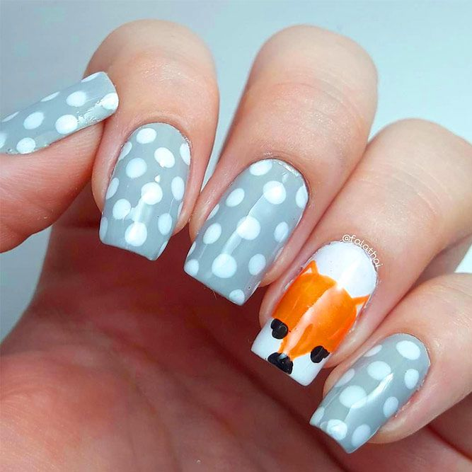 Beauty Dotted Nail Art
