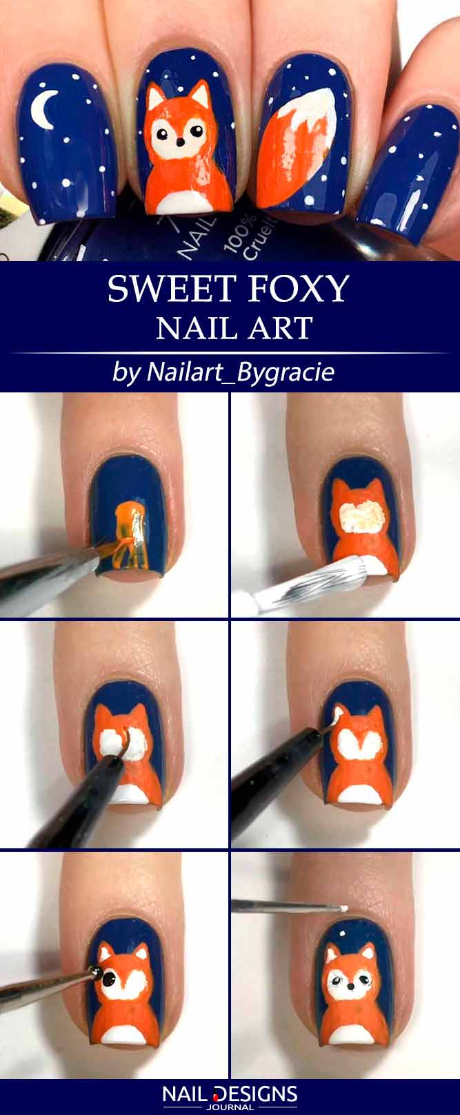 Sweet Foxy Nail Art