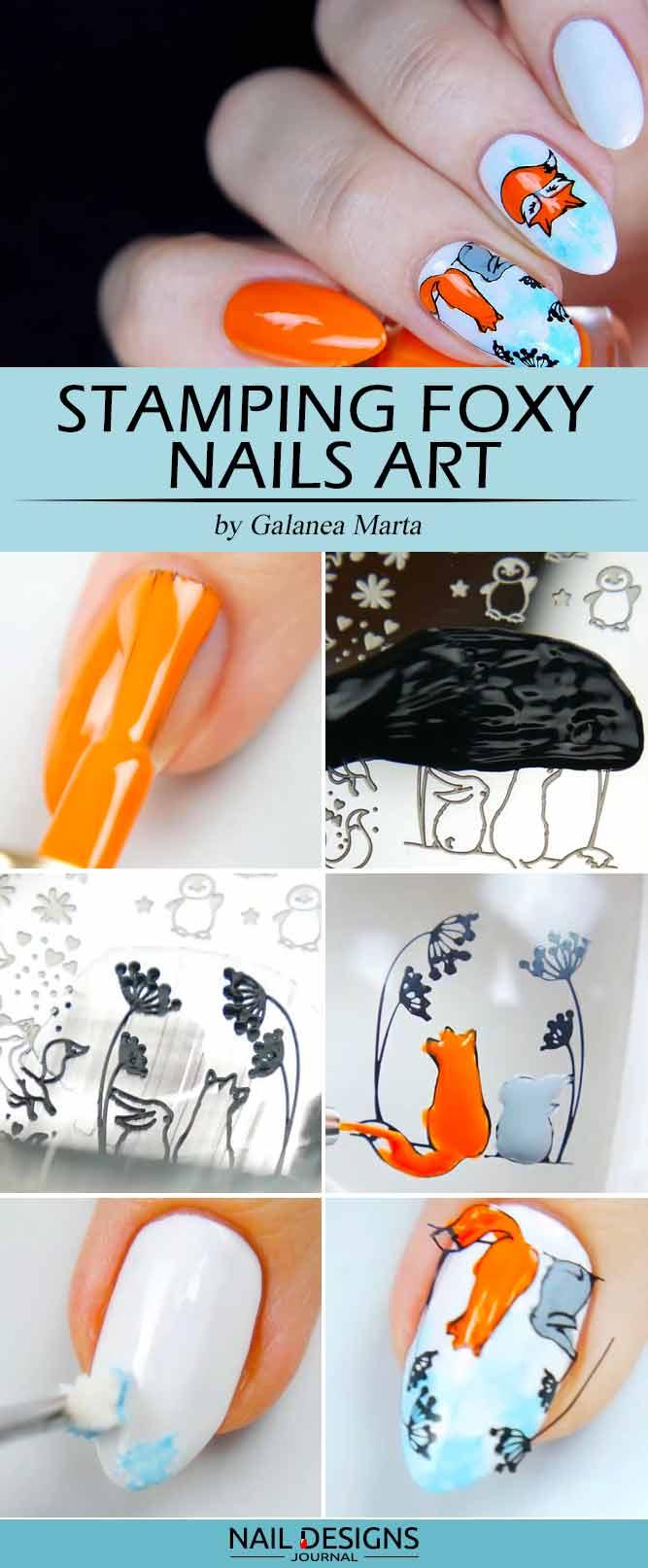 Stamping Foxy Nails Art