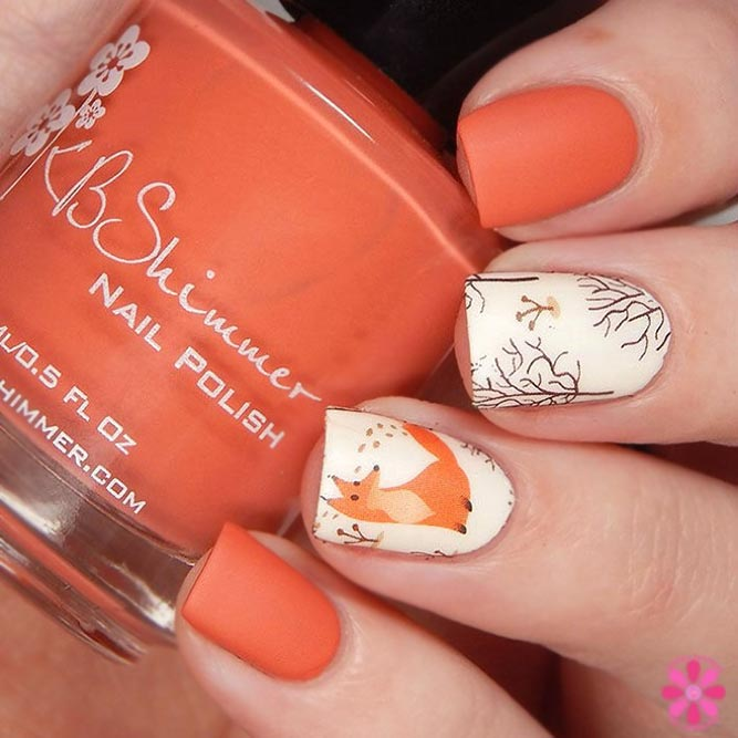 Matte Bright Color With Foxy Art Nails
