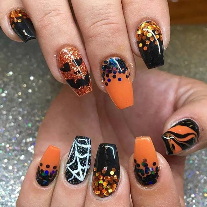classic halloween nail art picture 3