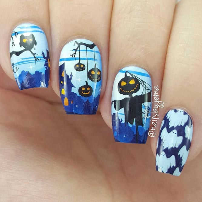 Creative Halloween Nails Ideas picture 1