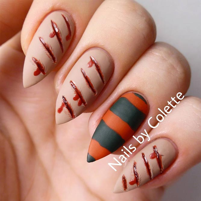 21 halloween nail art ideas to scare them all naildesignsjournal simple nail designs for beginners picture 2 prinsesfo Image collections