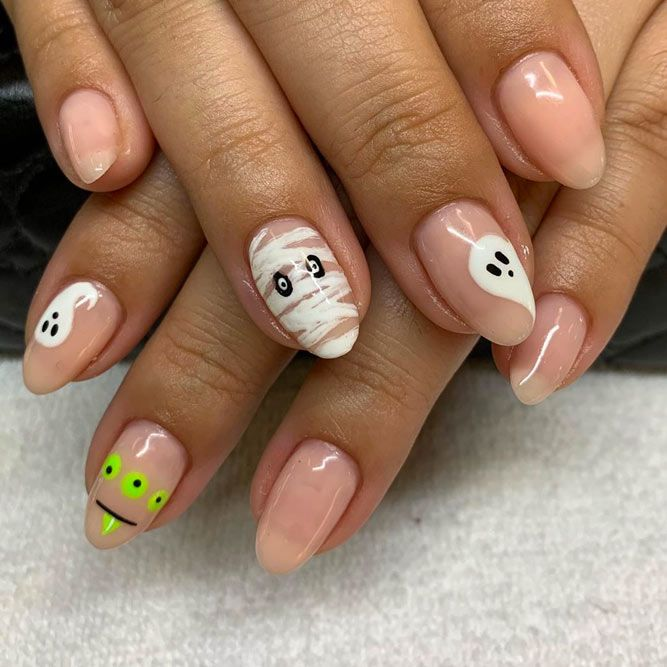 Simple Nude Nail Designs
