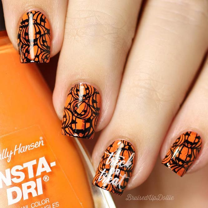 Cute Pumpkins Nail Art picture 2
