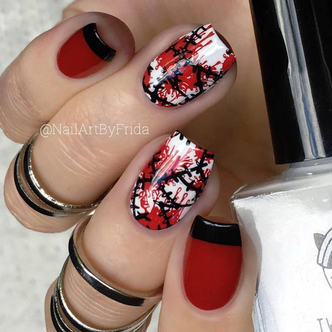 Classic Black and Red Designs for Halloween Fun picture 3