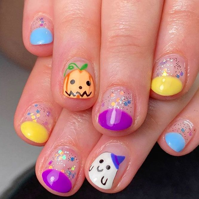 Simple Colorful Nail Designs