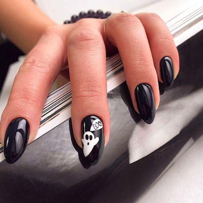 Simple Black Nail Design