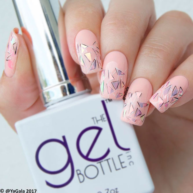 Design Nails with a Broken Glass Pattern picture 1