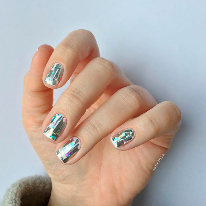 Design Nails with a Broken Glass Pattern picture 2