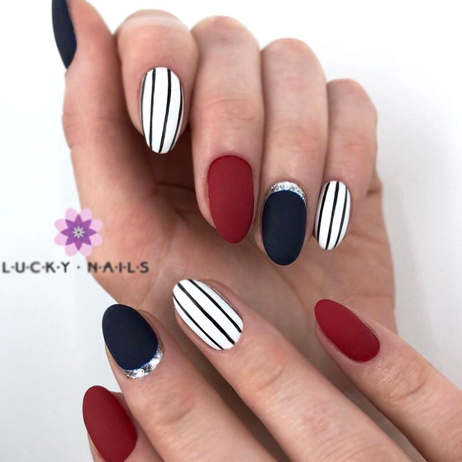 Black & Red With Stripes Accents