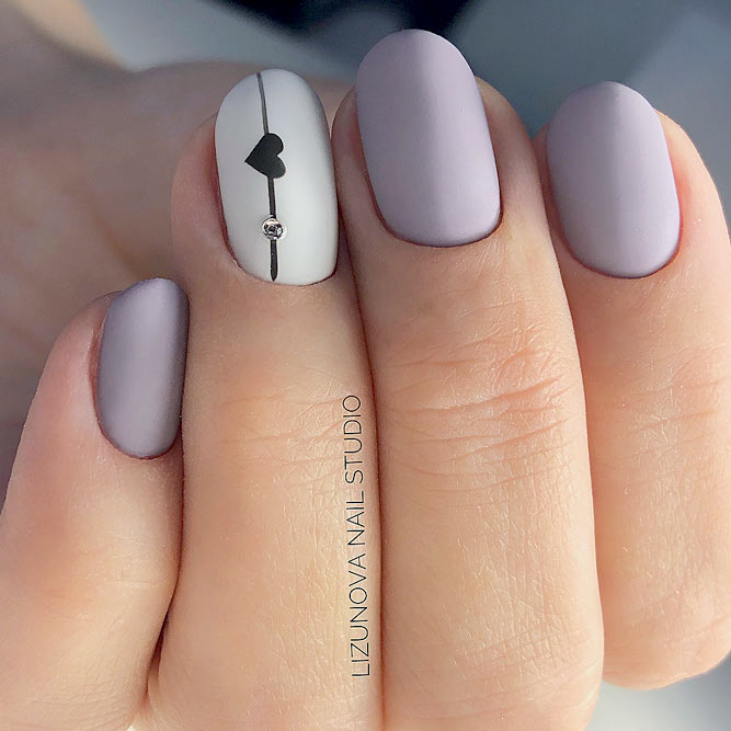 Feminine Lilac Nail Designs picture 1 - 27 Matte Nails Designs To Meet This Fall NailDesignsJournal.com