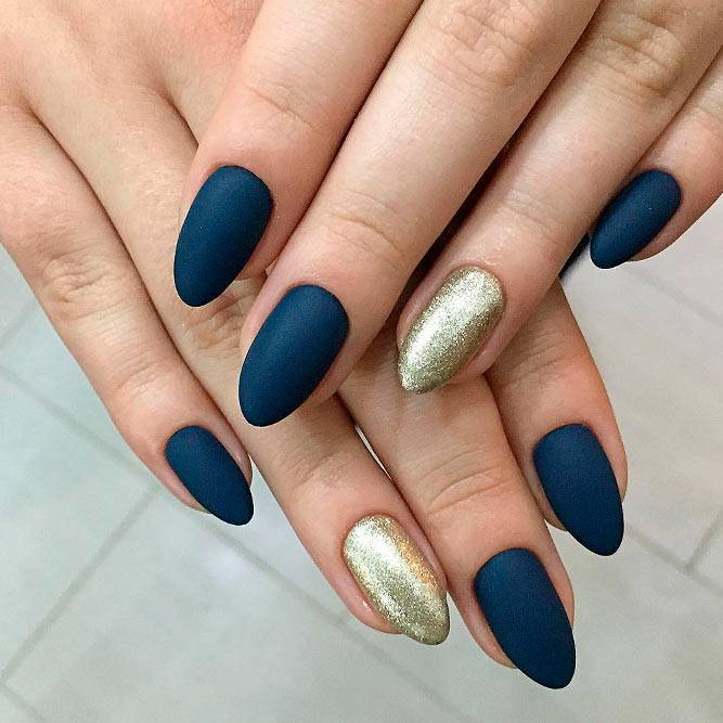 Deep Blue Matte Nails Look Fabulous picture 3