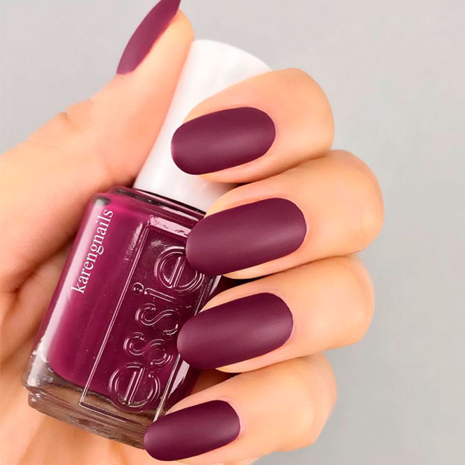 Royal Burgundy Matte Nails picture 3