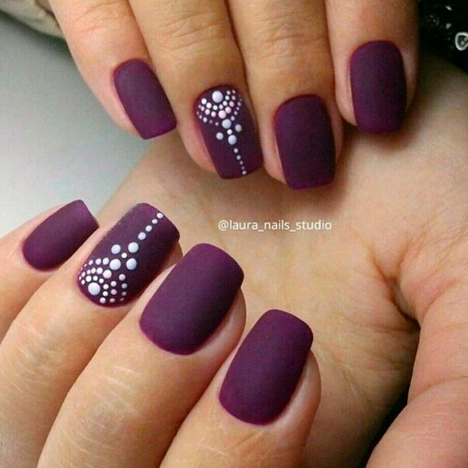 Plum Nail Art For Chic Girls picture 2