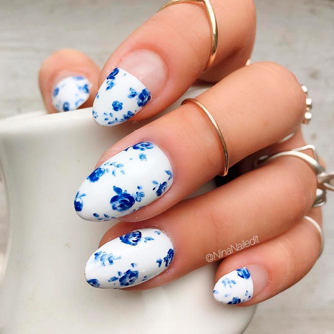 Floral Negative Space Nails for Sweet Girls picture 2