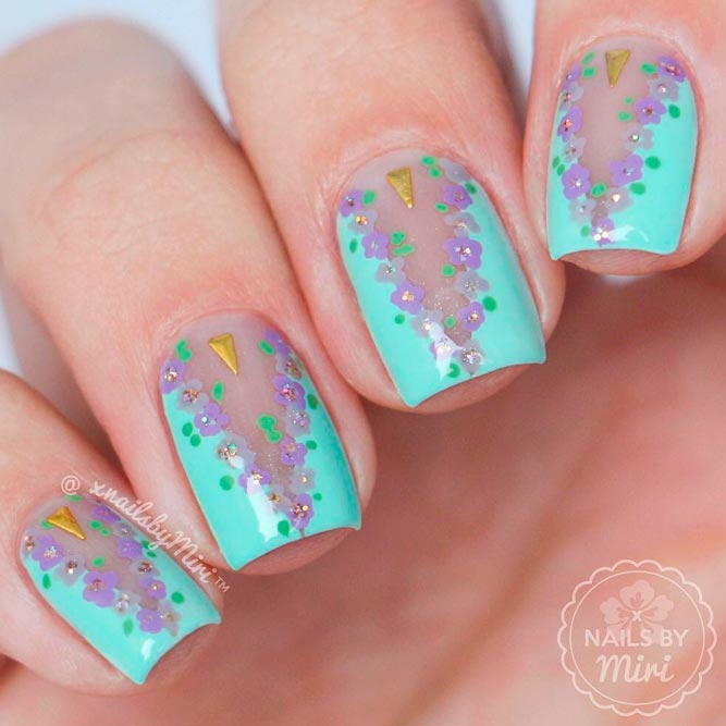 Floral Negative Space Nails for Sweet Girls picture 1