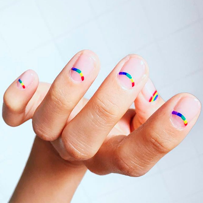 Fantasy Nails with Rainbow picture 3
