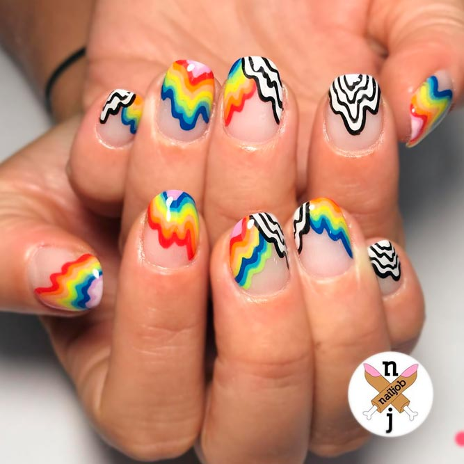 Fantasy Nails with Rainbow picture 1