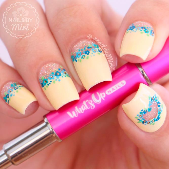 Floral Negative Space Nails for Sweet Girls picture 3