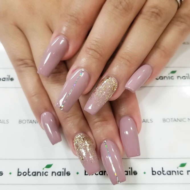 Glitter Ombre For Pink And Gold Nails