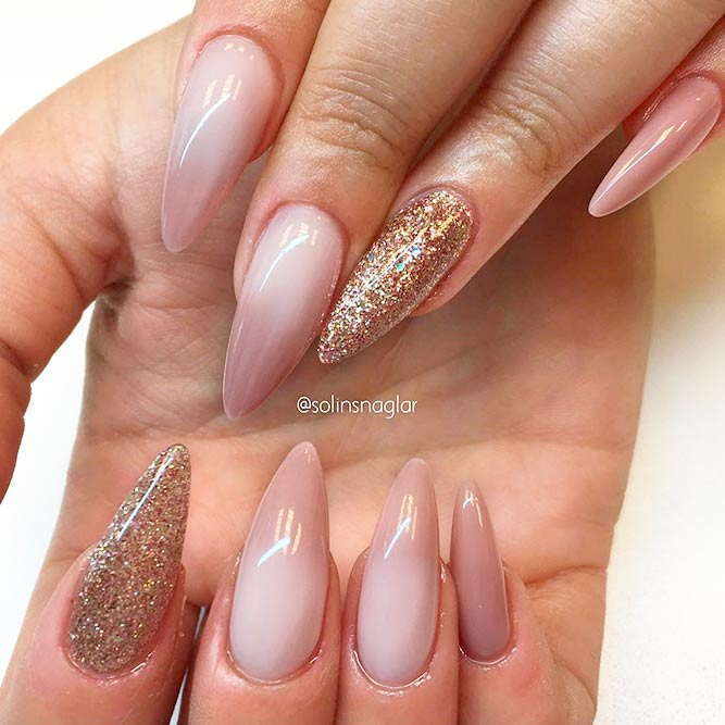 21 chic pink and gold nails designs naildesignsjournal amazing pink and gold nails designs picture 3 prinsesfo Images