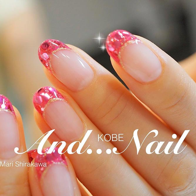 21 chic pink and gold nails designs naildesignsjournal brave and stylish hot pink nails picture 1 prinsesfo Images