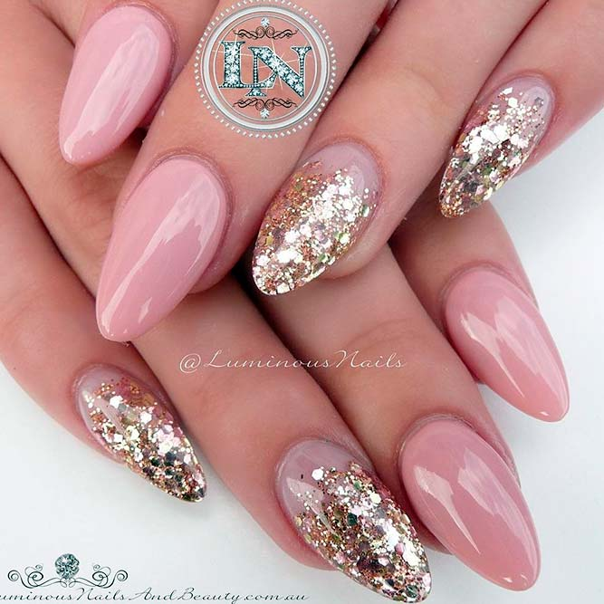 21 Chic Pink And Gold Nails Designs Naildesignsjournal