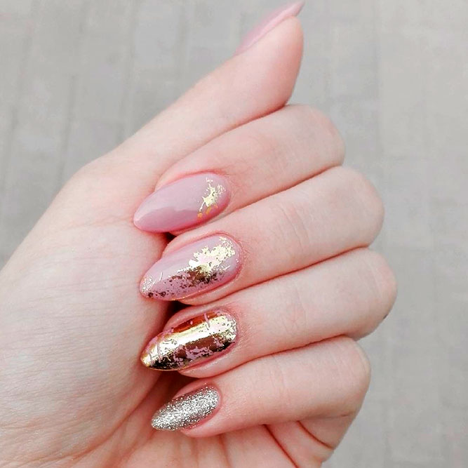 21 chic pink and gold nails designs naildesignsjournal amazing pink and gold nails designs picture 1 prinsesfo Images