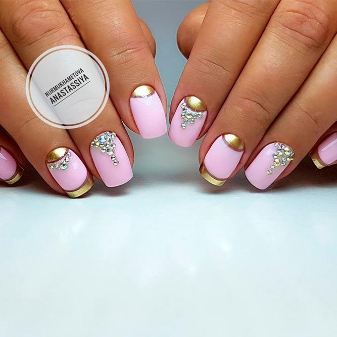 21 chic pink and gold nails designs naildesignsjournal most popular ideas for pink nails picture 1 prinsesfo Images