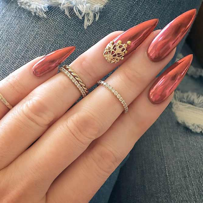 Chic and Stylish Pointed Nail Designs picture 1