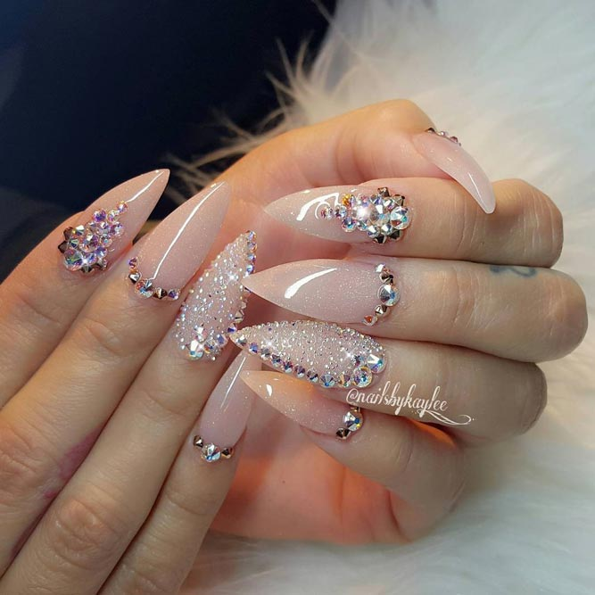 Popular Stiletto Nails in Nude Colors picture 3