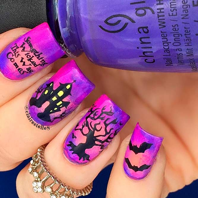 Cute and Scary Halloween Nail Art picture 3