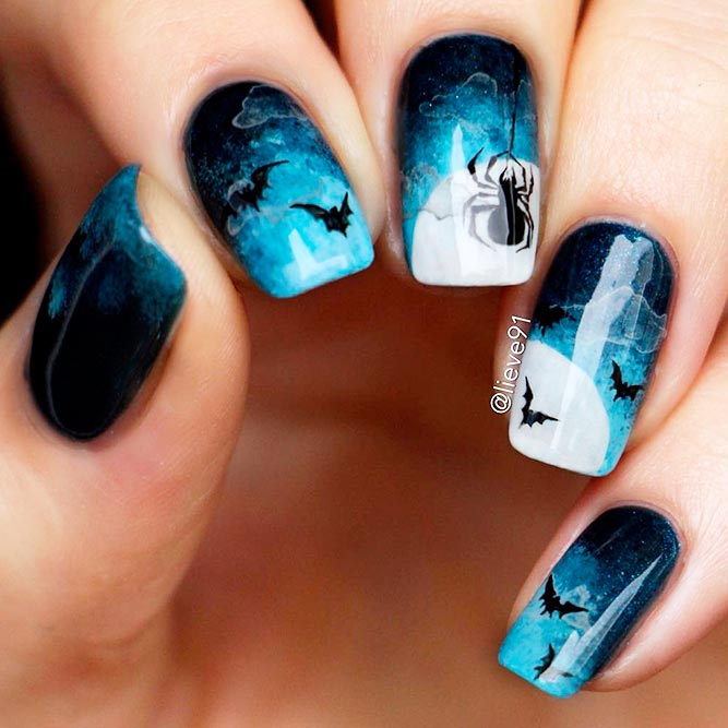 Spiders and Web for a Spooky Look of Your Nails picture 1