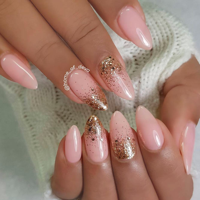 Amazing Nude Almond Nails picture 3