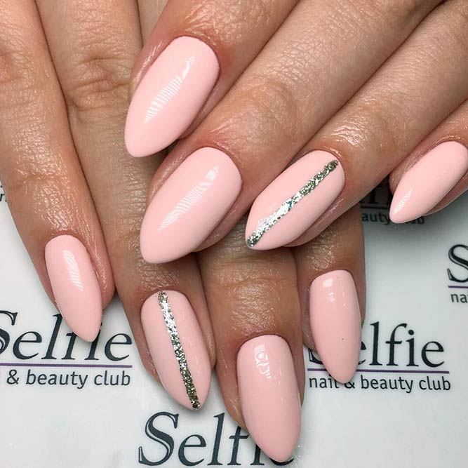 Amazing Nude Almond Nails picture 1